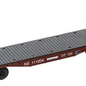 Bachmann Industries Flat Car with Buklhead Ends Norfolk Southern O Scale Train 412MrrUsiML