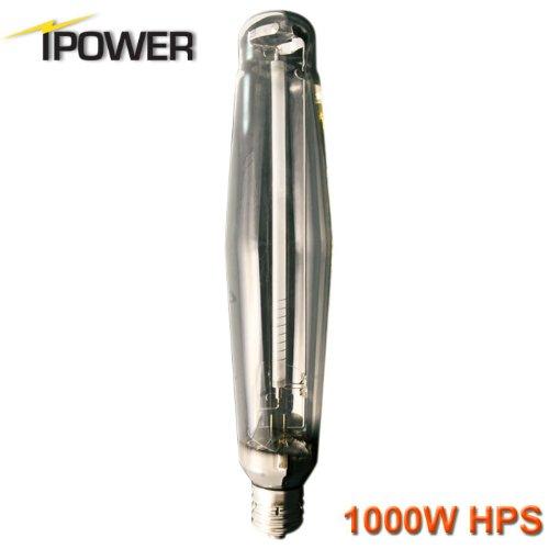 iPower 1000 Watt High Pressure Sodium HPS Grow Light Bulb Lamp, High PAR Enhanced Red and Orange Spectrums CCT 2100K
