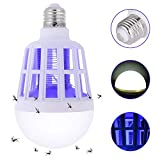 SUNNEST Bug Zapper Light Bulb, 2 in 1 Mosquito Killer Lamp, Electronic Insect Killer Fly Killer, Built in Insect Trap, Fits 110V E26/E27 Light Bulb Socket, Suit for Indoor Outdoor Porch Patio Backyard