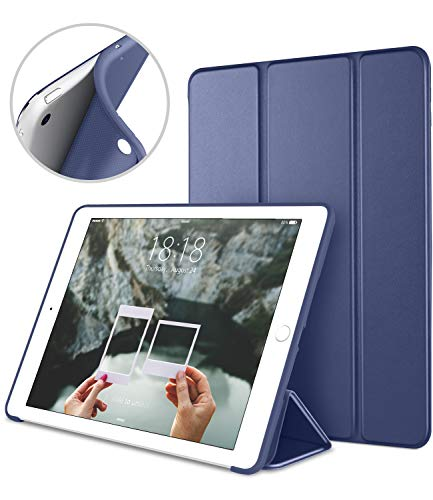 iPad Mini Case for iPad Mini 3/2 / 1, DTTO Ultra Slim Lightweight Smart Case Trifold Cover Stand with Flexible Soft TPU Back Cover for iPad Apple Mini, Mini 2, Mini 3 [Auto Sleep/Wake],NavyBlue