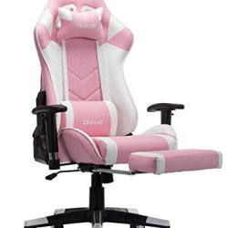 OHAHO Gaming Chair Racing Style Office Chair Adjustable Massage Lumbar Cushion Swivel Rocker Recliner Leather High Back…