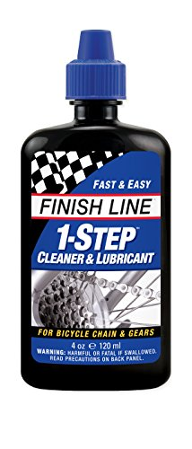 Finish Line 1-Step Bicycle Chain Cleaner & Lubricant 4oz Squeeze Bottle