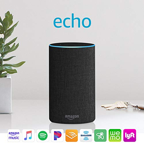 Echo (2nd Generation) - Smart speaker with Alexa and Dolby processing - Charcoal Fabric 1