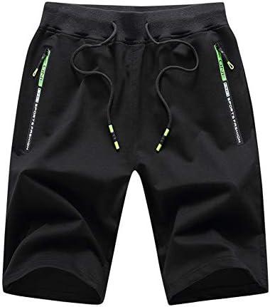 Big Boy's Casual Shorts Summer Cotton Classic Fit Elastic Waist Shorts with Zipper Pockets 1