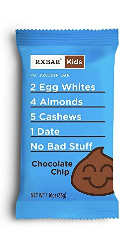 RXBAR Kids Whole Food Protein Bar, Chocolate Chip, Gluten Free, 1.16oz Bars, 16 Count