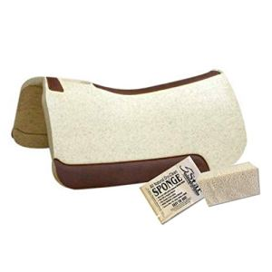 5 Star – 1 1/8″ Extra Thick Rancher Western Saddle Pad – The Rancher Performer Full Skirt 32″ x 32″ This Horse Saddle Pad is Great for Ropers and Ranchers. Free Sponge Saddle Pad Cleaner Included