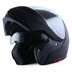 1Storm Motorcycle Street Bike Modular Flip-up Dual Visor Sun Shield Full Face