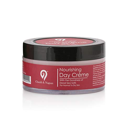 412bC3p7lRL - Chauth & Nagsan Dead Sea Salts Enriched Perfect Radiance and Nourishing Day Creme | Red Raspberry & Watermelon | SPF 15 | Normal to Dry Skin-50gm