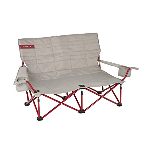Kelty Low Loveseat Camp Chair - Tundra/Chili Pepper