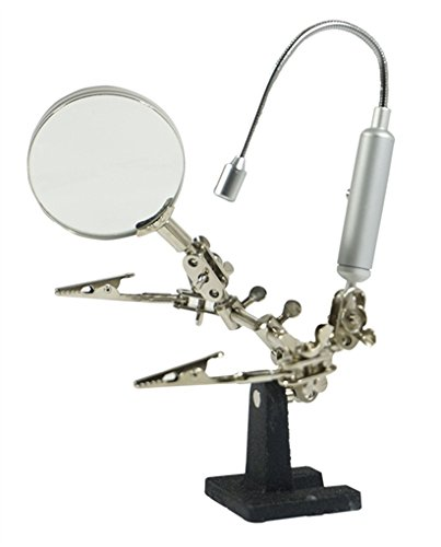SE MZ1013FL Helping Hand 3x Magnifier with Flexible Neck LED Flashlight