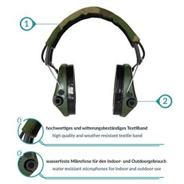 Sordin-Supreme-PRO-X-SOR75302-X-G-S-Active-Adjustable-Ear-Muffs-Hearing-Protection-Gel-Seals-Camo-Canvas-Headband-and-Green-Cups