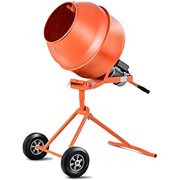 Goplus 1 2hp Electric Concrete Cement Mixer Barrow Machine For Mixing Mortar Stucco Seeds 5 Cubic Ft