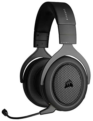 Corsair HS70 Bluetooth – Wired Gaming Headset with Bluetooth – Works with PC, Mac, Xbox Series X, Xbox Series S, Xbox One, PS5, PS4, Nintendo Switch, iOS and Android – Carbon, Black