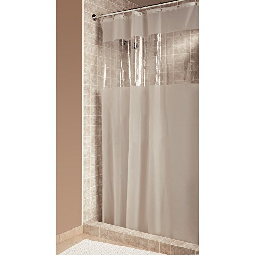 InterDesign Hitchcock EVA Plastic Shower Liner Mold and Mildew Resistant for use Alone or With Fabric Curtain for Master, Guest, Kid's Bathroom, Stall, Frost