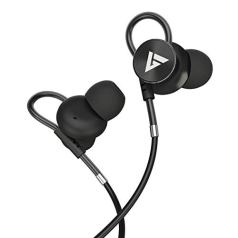 Boult Audio BassBuds Loop in-Ear Wired Earphones with Mic and Deep Bass, HD Sound Mobile Headset with Noise Cancellation and Customizable Ear Loop (Black)