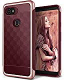 Caseology for Google Pixel 2 XL case [Parallax Series] - Slim Protective Secure Grip with Textured Geometric Design Case for Google Pixel 2 XL - Burgundy