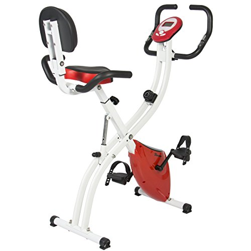 Best Choice Products Folding Adjustable Magnetic Upright Exercise Bike Fitness Upgraded Machine