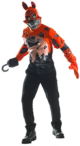 Rubie's Costume Co. Men's Five Nights At Freddy's Deluxe Nightmare Foxy Costume, As Shown, Small