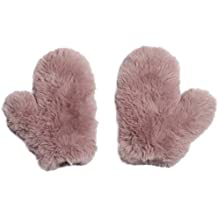 Glamourpuss NYC Knitted Faux Fur Mitten