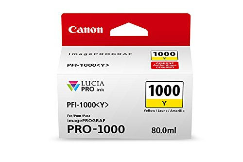 Canon-0549C002-CanonInk-Lucia-PRO-PFI-1000-Yellow-Individual-Ink-Tank