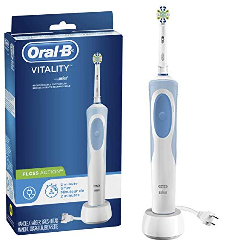 Oral-B Vitality FlossAction Rechargeable Battery Electric Toothbrush with Automatic Timer, Powered by Braun