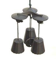 【南部風鈴 三重奏】 サイズ:100×100×高さ140mm  重 量:450g カラー:黒