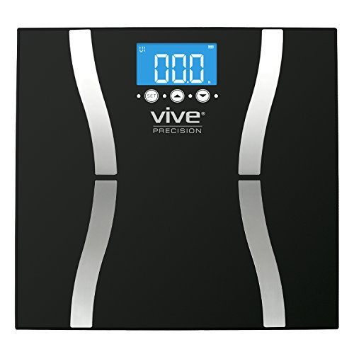 Vive Precision Body Fat Scale (2018 Edition) - Digital Bathroom Scale Calculates & Analyzes Weight & Electronic Body Fat Composition Percentage - Accurate Reliable Home Measurement for Men & Women