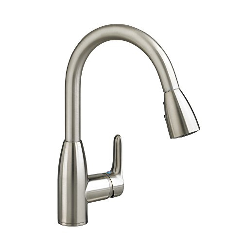 American Standard 4175300.075 Colony Soft 1 Handle High Arc Pull Down Kitchen Faucet, 1.5 GPM, Stainless Steel