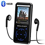 MP3 Player, 16GB MP3 Player with Bluetooth 4.0, Portable HiFi Lossless Sound MP3 Music Player with FM Radio Voice Recorder E-Book 2.4'' Screen, Support up to 128GB (Headphone, Sport Armband Included)