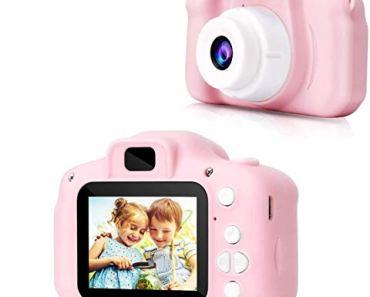 VEZOL Digital Camera, Recorder Camera 800W HD 2.0 Inch Screen Video Front Camera Child Camera (Pink)
