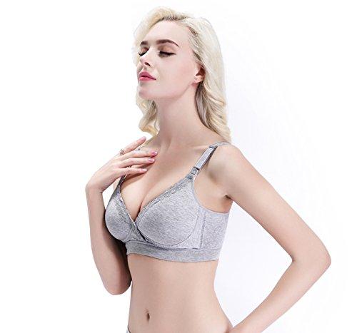 5b91cf7ffcc6c ZUMIY Women s Wireless Cotton Nursing Bra With Front Closure for ...