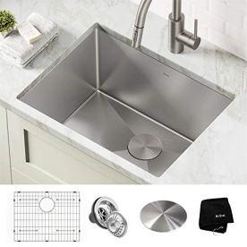 Kraus-KHU101-24L-Standart-PRO-24-inch-Undermount-16-Gauge-Single-Bowl-Laundry-and-Utility-Sink-24-Inch-Tight-Radius