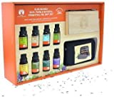 GuruNanda Essential Oils Gift Set - Pure & Natural Therapeutic Grade Oil for Aromatherapy Diffuser - Lavender, Peppermint, Eucalyptus, Lemongrass, Lemon, Frankincense, Rosemary, and Tea Tree