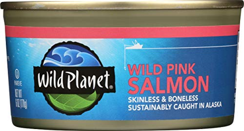 Wild Planet Wild Pink Salmon – Boneless and Skinless – 6oz (Pack of 12)