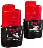 Milwaukee (2-Pack) 48-11-2420 M12 REDLITHIUM 2.0 Compact Battery Packs