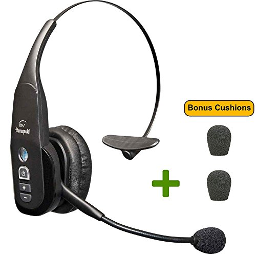 VXi BlueParrott B350-XT Bluetooth Headset - 203475 | Bonus Mic Cushions | NFC Enabled - Smartphones, iPad, Android, iPhones - 24 hours of Talk Time