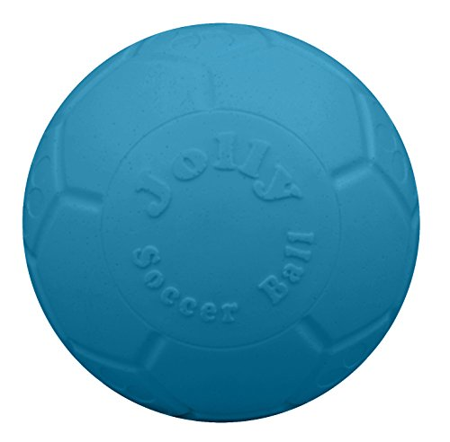 Jolly Pets 8' Soccer Ball, Ocean Blue, Medium/Large