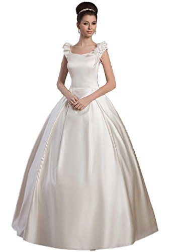 61oNi83%2BQ5L ●A line Satin brial gown wedding dresses ●Back with zipper.Bullt-in bra.Dry clean only ● Customized service and colors are also available,just please email us your requirement freely any time