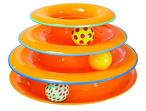 Petstages Tower of Tracks Ball and Track Interactive Toy for Cats, Fun Cat Game by