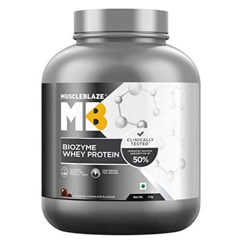 MuscleBlaze Biozyme Whey Protein (2 Kg, Ice Cream Chocolate)