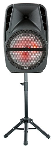 QFX PBX-61161 15' Portable Party Speaker with Wireless Microphone & Stand