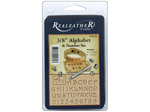 Realeather 3/8' Alphabet and Number Stamp Tool Set, Multicolor