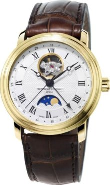 Frederique Constant Classics Moonphase Silver Dial Mens Watch FC-335MC4P5