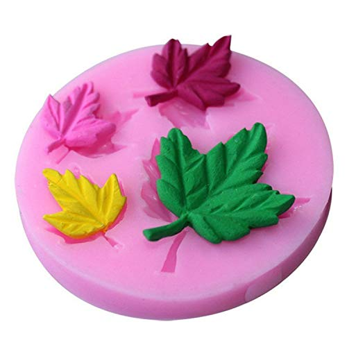 Bluecandy 3D Cake Decorating Tools Maple Owl Food Grade Silicone Fondant Mould Cake Cupcake Chocolate Mold Kitchen Accessories,Maple Leaf