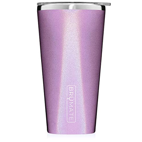 Brumate-Imperial-Pint-20oz-Shatterproof-Double-Wall-Vacuum-Insulated-Stainless-Steel-Travel-Camping-Mug-for-Beer-Cocktails-Coffee-Tea-with-Splash-Proof-Lid-for-Men-Women-Glitter-Violet