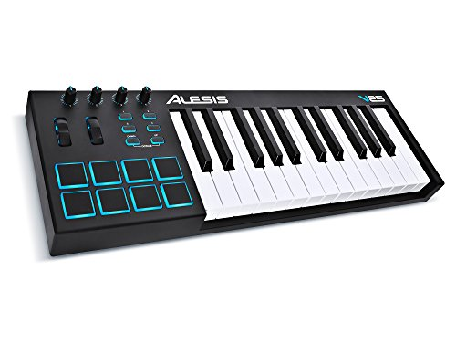 Alesis V25 | 25-Key USB MIDI Keyboard & Drum Pad Controller (8 Pads/4 Knobs/4 Buttons)