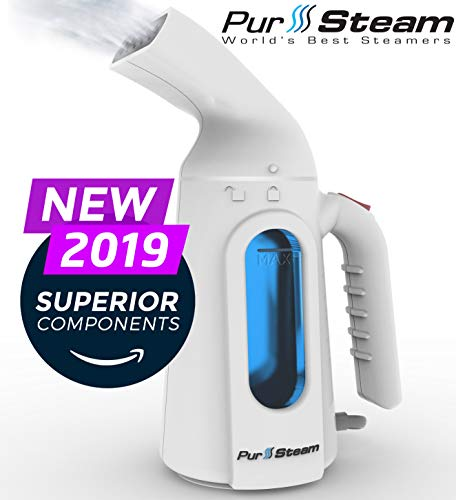 PurSteam Steamer for Clothes. Highest Quality, Fastest Heating InfaTherm Technology , 8-in-1, Wrinkle Remover- Clean- Sterilize-Refresh- Treat-, Auto Off