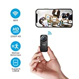 FREDI Hidden Camera 1080p HD Mini WiFi Camera spy Camera Wireless Camera for iPhone/Android Phone/iPad Remote View with Motion Detection(Update Version)