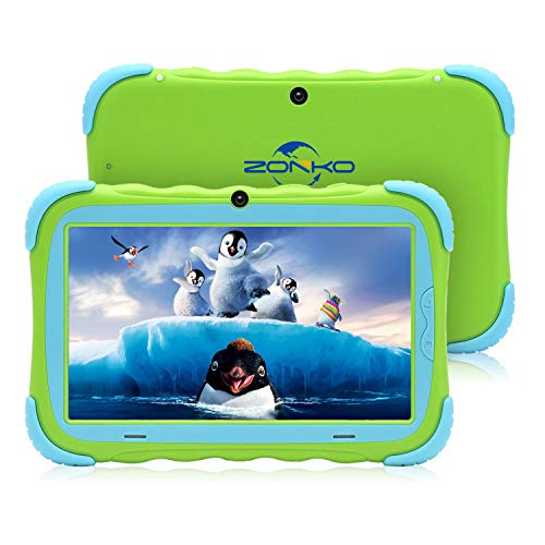 """Kids Tablet, 7"""" HD Display with Kid-Proof Case(Green)"""