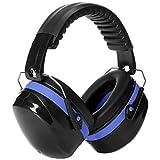 AmazonBasics Noise Reduction Safety Earmuffs Ear Protection, Black and Blue